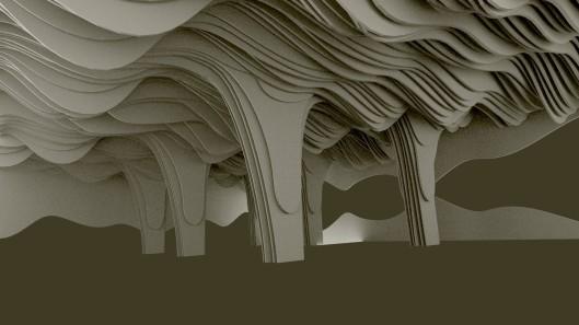 projekt sufitu z kolumnami